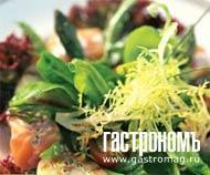 Рецепт Королевский салат из копченого лосося и гребешков