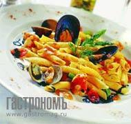Рецепт Гарганелли с морепродуктами и спаржей