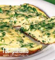 Рецепт Омлет с сыром и зеленью