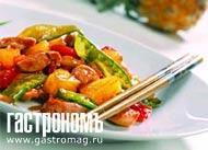 Рецепт Курица в кисло-сладком соусе с кешью