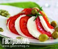 Рецепт Салат с грейпфрутом и мягким сыром