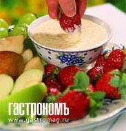 Рецепт Сырный соус для фруктов