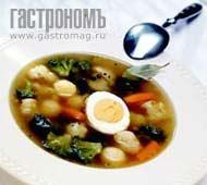 Рецепт Суп из брокколи и цветной капусты