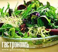 Рецепт Зеленый салат с грецкими орехами