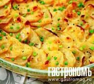 """Рецепт Картофель """"дофин"""", запеченный под сыром"""
