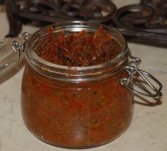 Рецепт Аджика абхазская острая