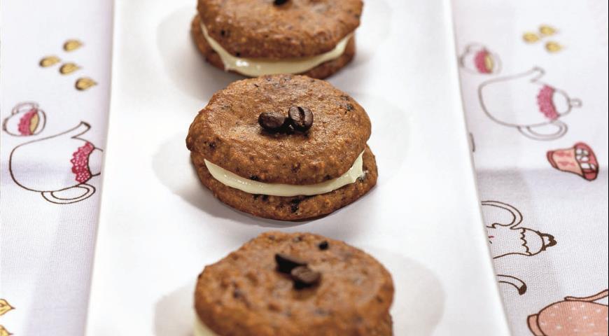 Рецепт Кофейное печенье с фундуком