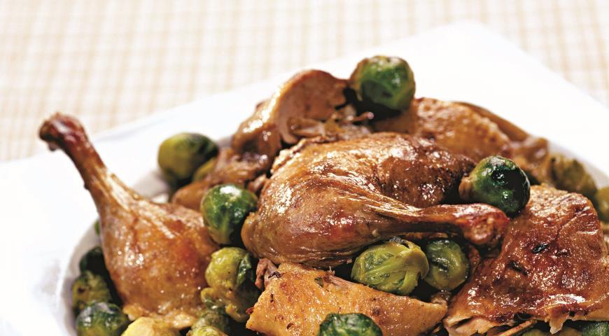 Рецепт Утка с брюссельской капустой