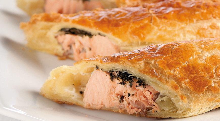 Рецепт Мини-пироги из лосося с зеленым чаем