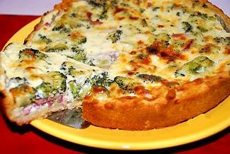 Рецепт Пирог с ветчиной и брокколи