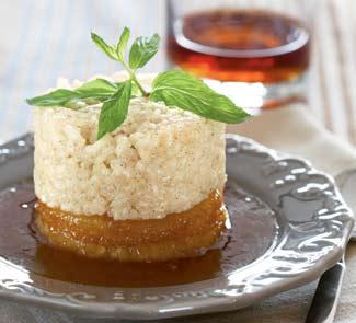 Рецепт Ананас с ромовым соусом и ванильным рисовым пудингом