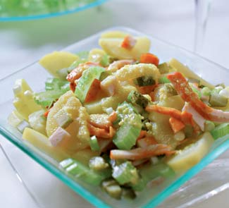 Рецепт Салат из картофеля и копченой птицы с можжевеловым маслом