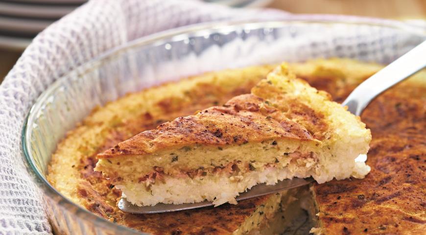 Рецепт Сырный пирог из лосося