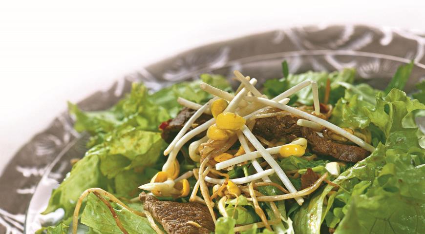 Рецепт Хрустящий салат с говядиной