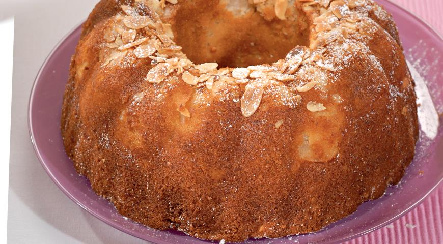 Рецепт Яблочный кекс с миндалем