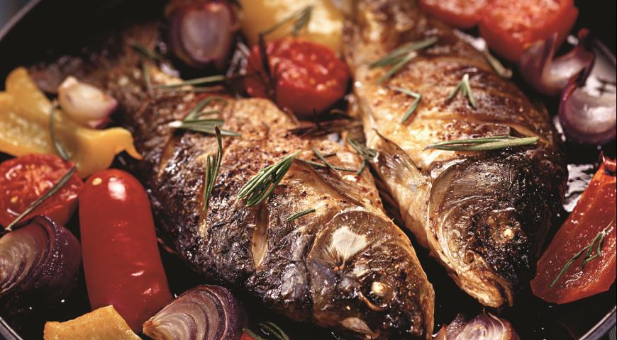 Рецепт Карпы с соусом ромеско