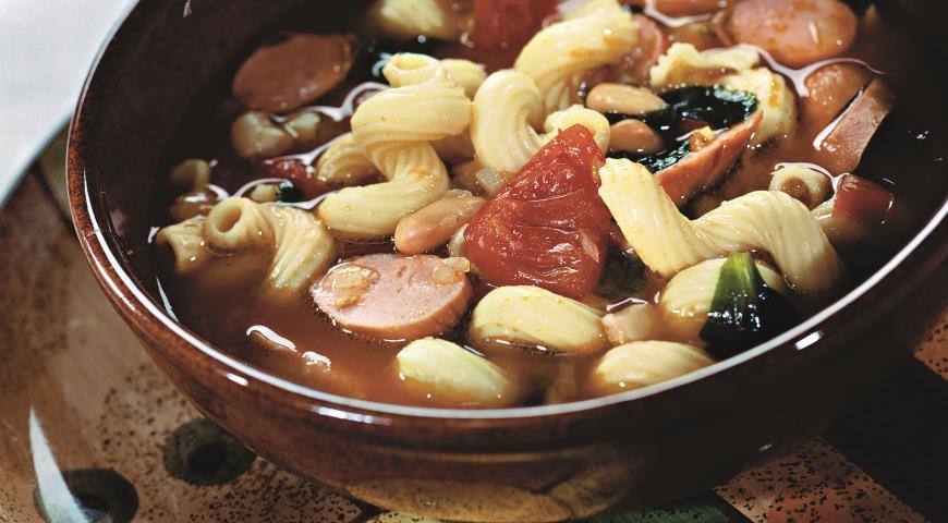 Рецепт Итальянский суп с сосисками