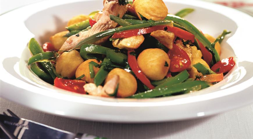 Рецепт Куриное рагу с картофельными шариками