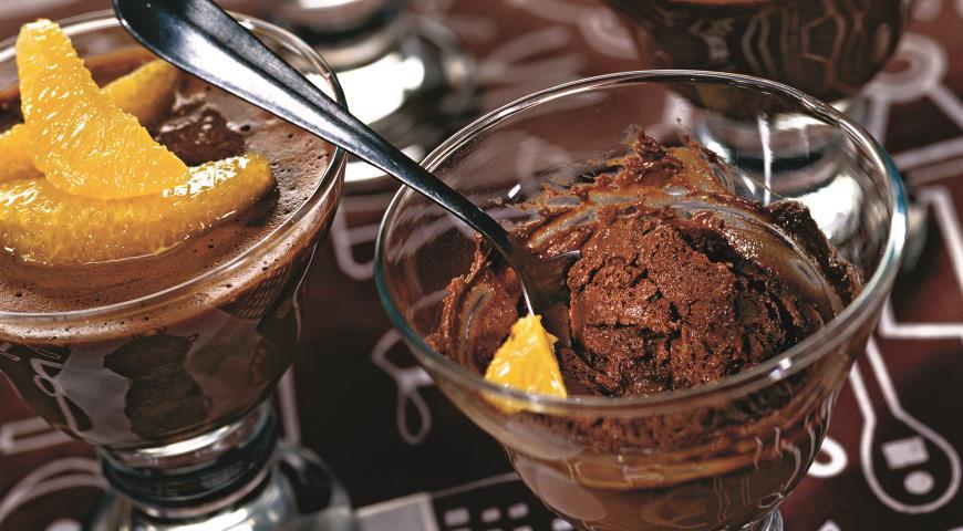 Рецепт Шоколадно-апельсиновый мусс
