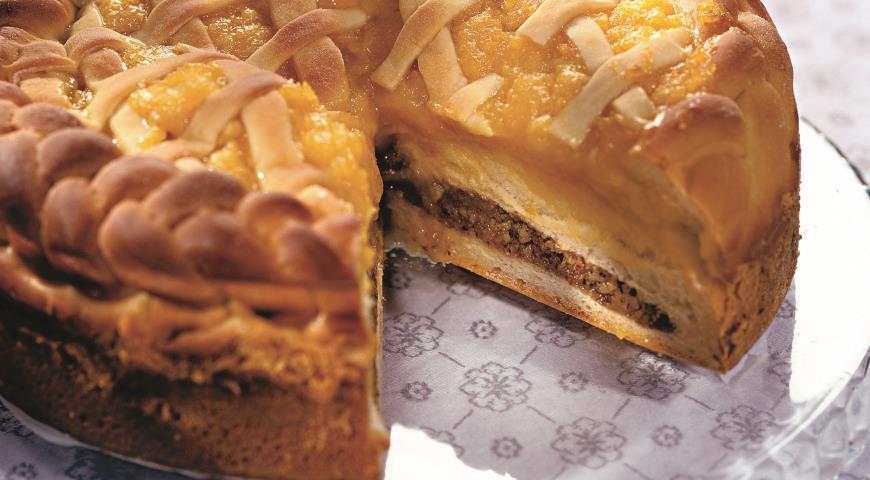 Рецепт Пирог с курагой и орехами