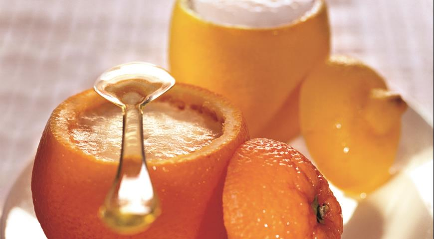 Рецепт Апельсиновый и лимонный сорбет