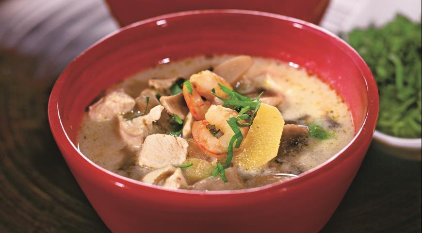 Рецепт Суп с креветками в азиатском стиле