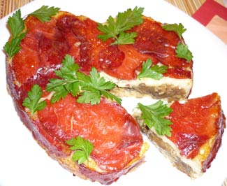 Рецепт Грибы, запеченные в картофеле с сыром и беконом