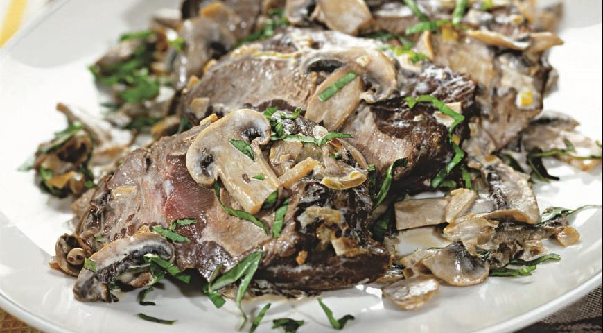 Рецепт Говядина с грибами