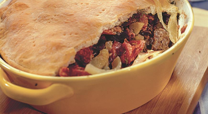 Рецепт Пирог с говядиной и почками