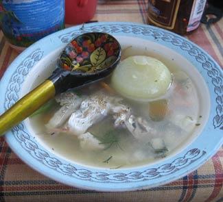 Рецепт Уха из щуки с пшеном и водкой