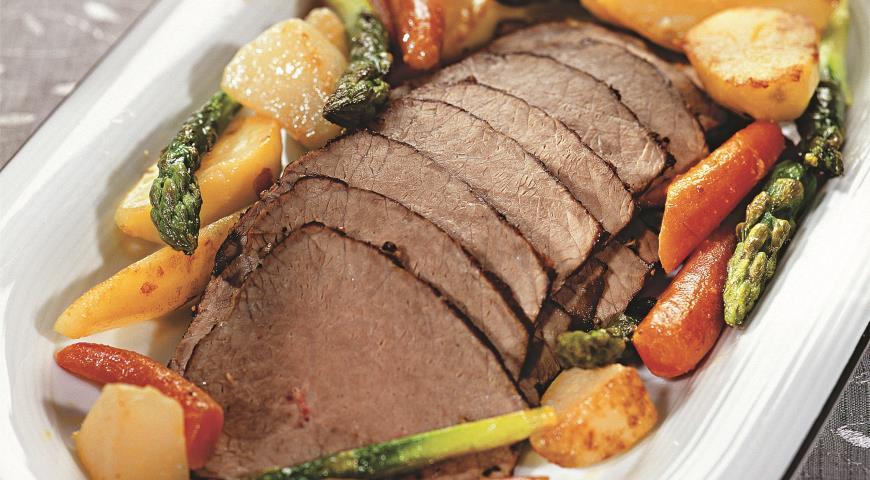 Рецепт Мясо с молодыми овощами