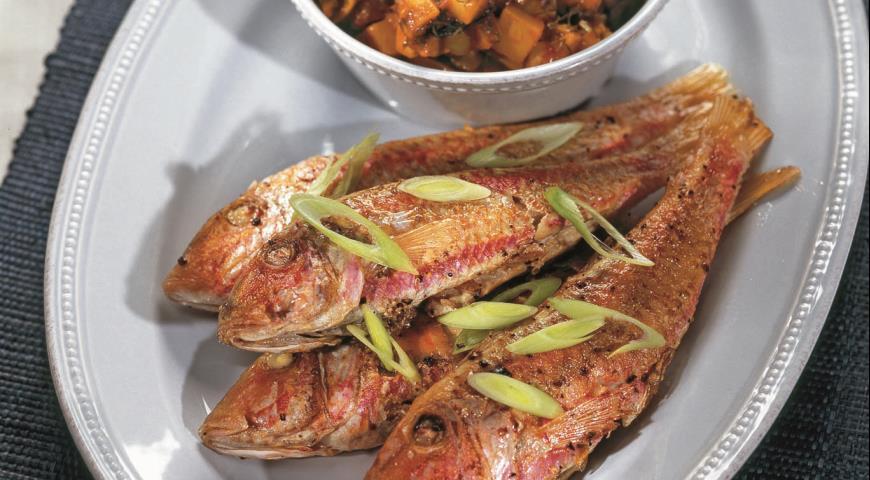 Рецепт Барабулька с овощным гарниром