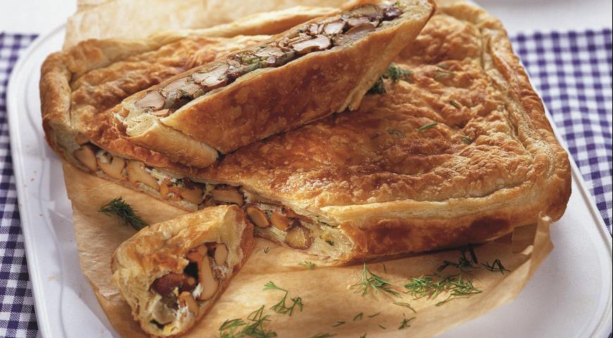 Рецепт Грибной пирог с каштанами