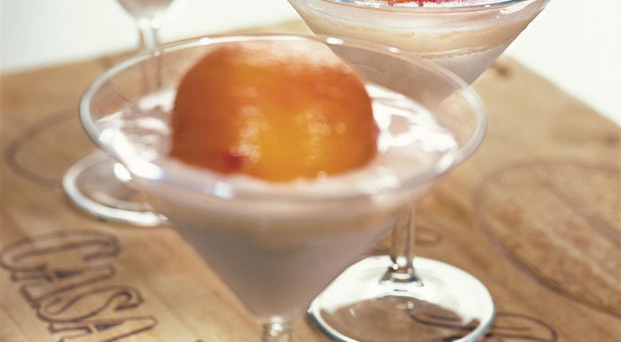 Рецепт Персики с творожным кремом