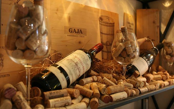 Пробка в бутылке вина