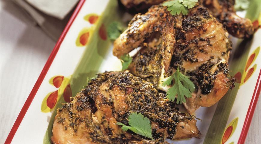 Рецепт Цыпленок в маринаде из кинзы