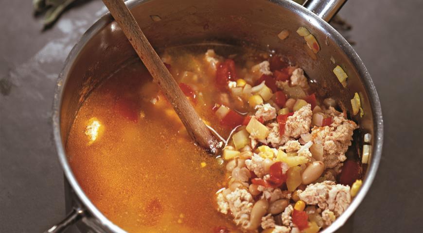 Рецепт Мексиканский суп из индейки