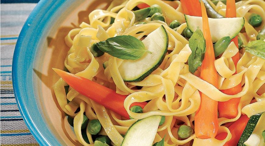Рецепт Лапша с летними овощами