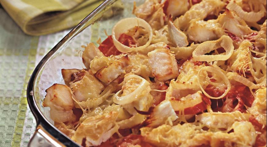 Рецепт Копченая рыба, запеченная с овощами