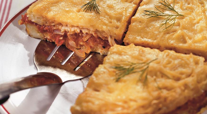 Рецепт Запеканка из лапши, помидоров и сыра