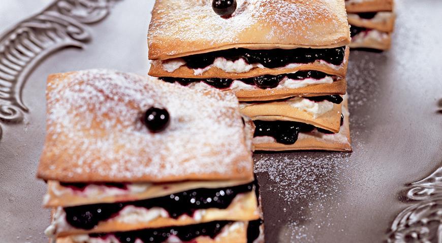 Рецепт Пирожные с черничным кремом
