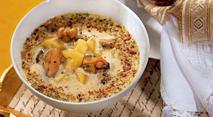 Рецепт Суп с мидиями