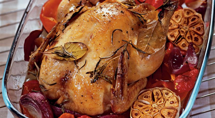 Рецепт Цыпленок с овощами