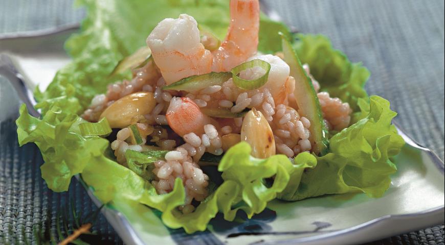 Рецепт Рисовый салат с креветками