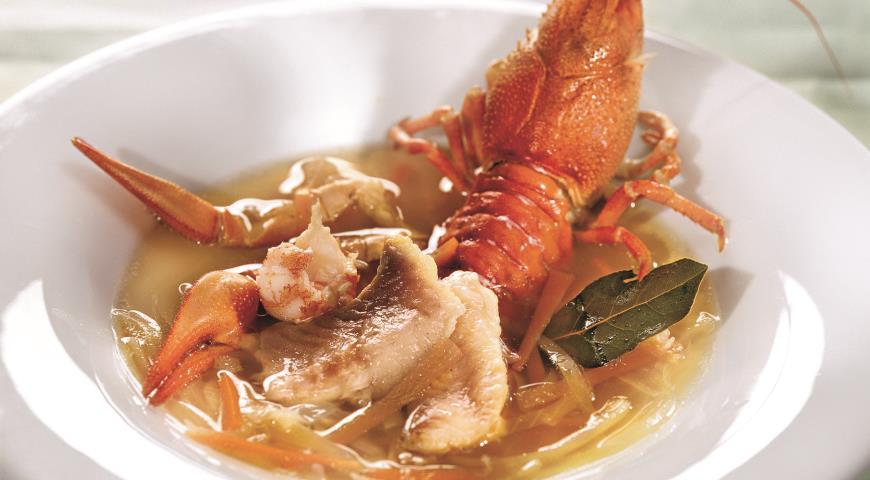 Рецепт Суп из раков с севрюгой