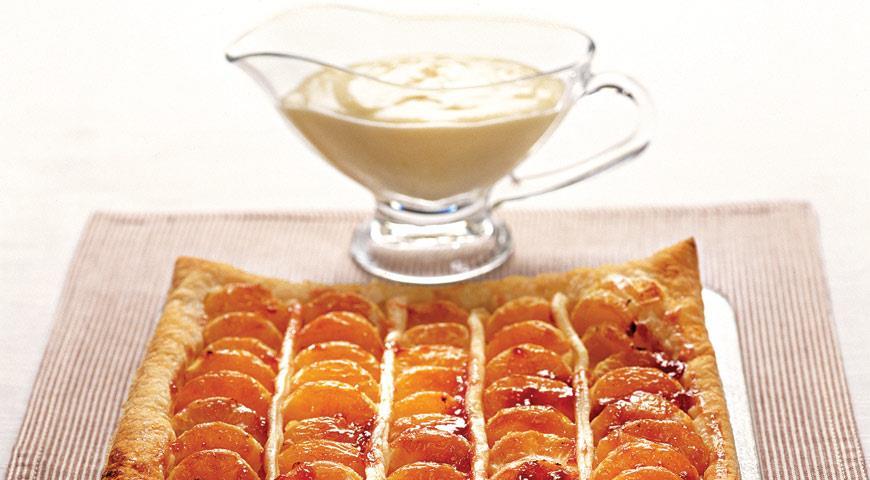 Рецепт Пирог с мандаринами и кремом сабайон