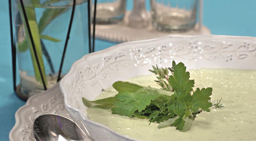Рецепт Шелковистый суп со щавелем и черемшой
