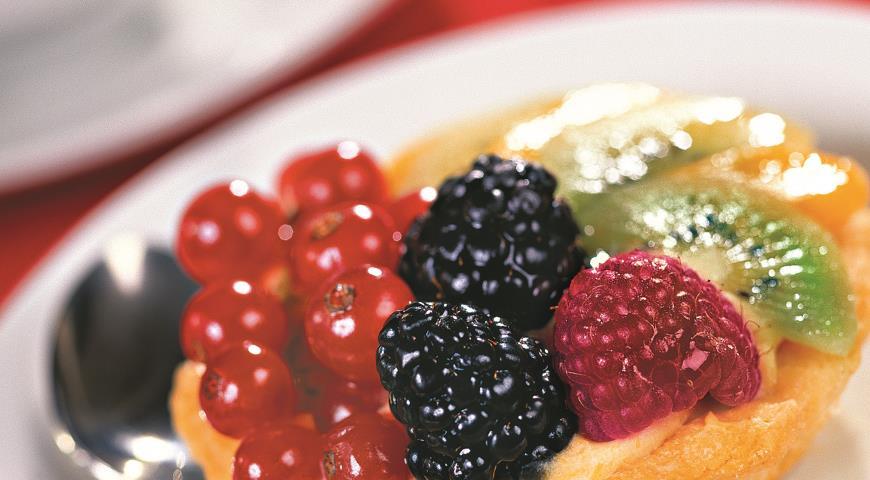 Рецепт Корзиночки песочные с фруктами