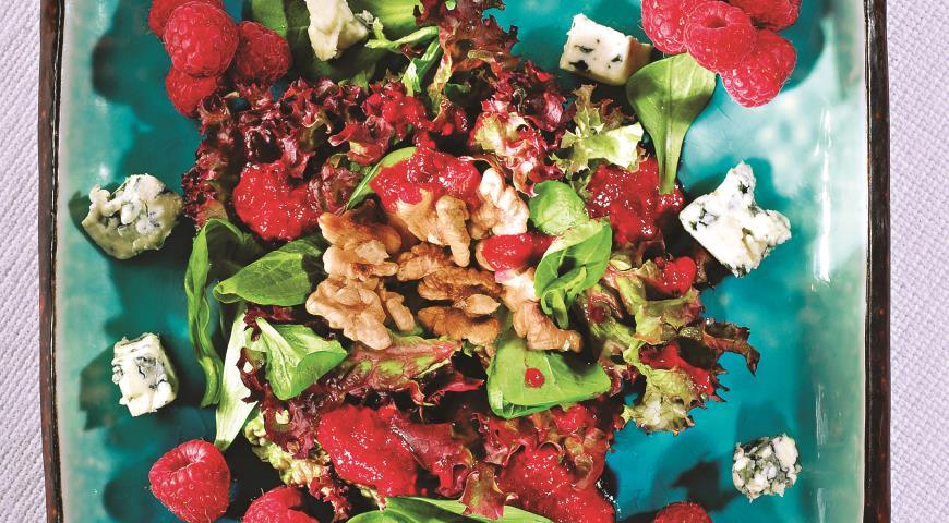Рецепт Салат с малиновой заправкой