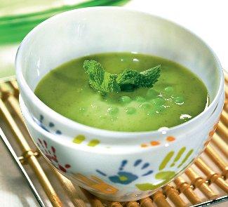 Рецепт Cуп из зеленого горошка с мятой